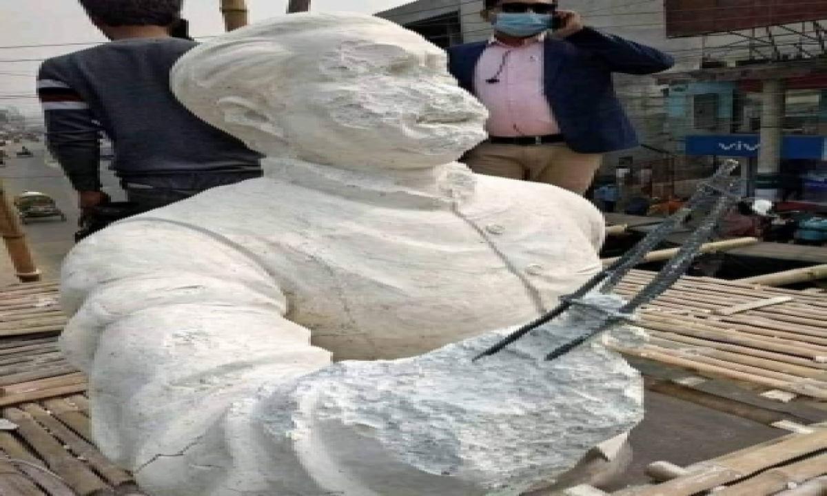 TeluguStop.com - Bangabandhu's Sculpture Vandalised In Bangladesh
