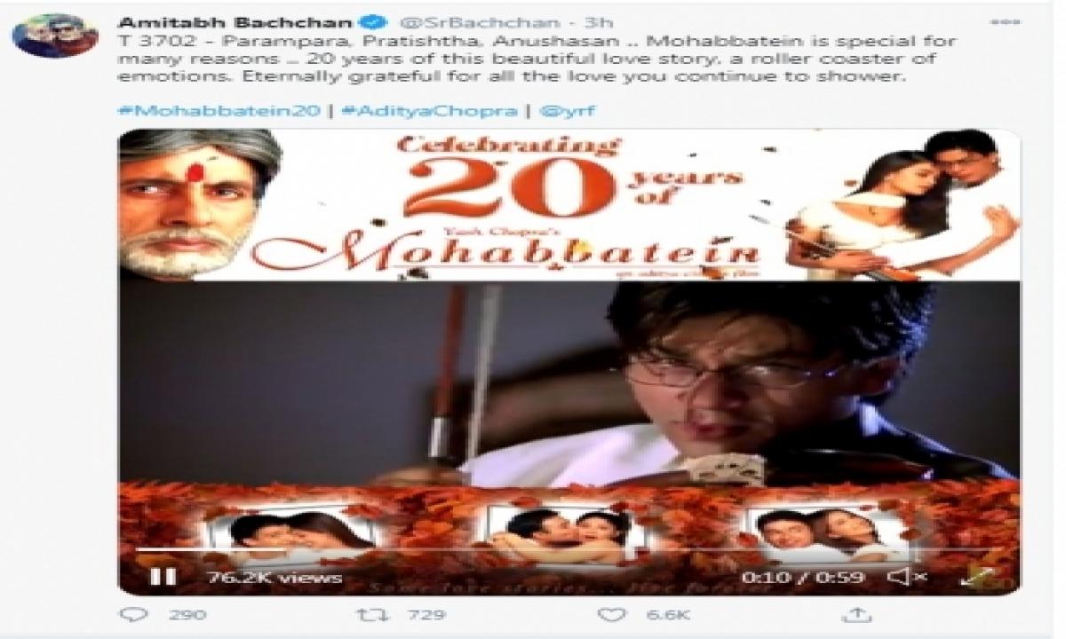 TeluguStop.com - Big B Looks Back As Mohabbatein Turns 20