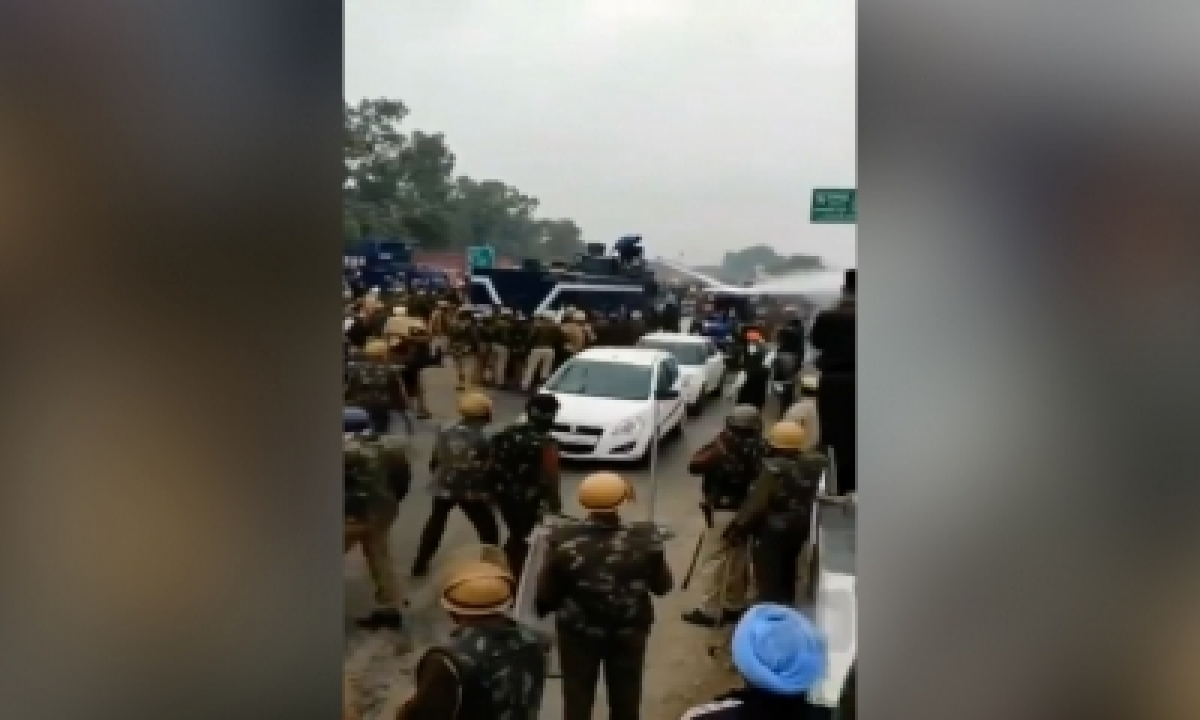 TeluguStop.com - Farmer Who Turned Off Water Cannon Booked In Haryana