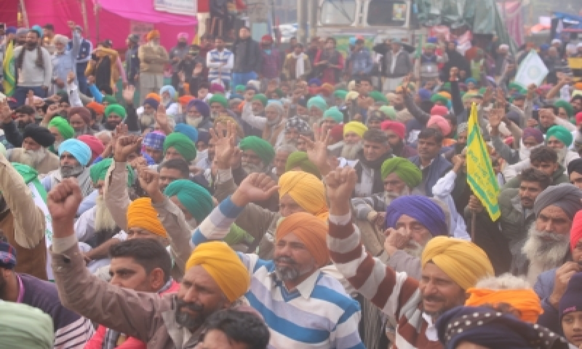 TeluguStop.com - Farmers' Protest Enters 50th Day Amid Biting Cold, Fog