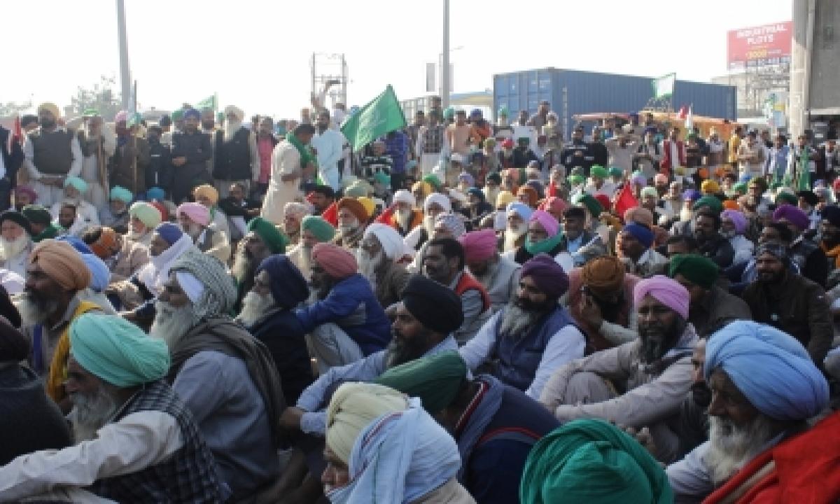 TeluguStop.com - Farmers' Stir Chokes Various Points Near Delhi-haryana Border