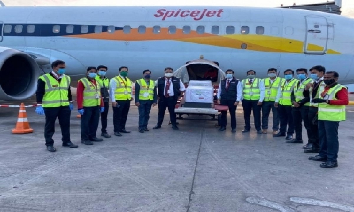 TeluguStop.com - First Consignment Of Covid Vaccines Land In Hyderabad Amid Prayers, Hopes