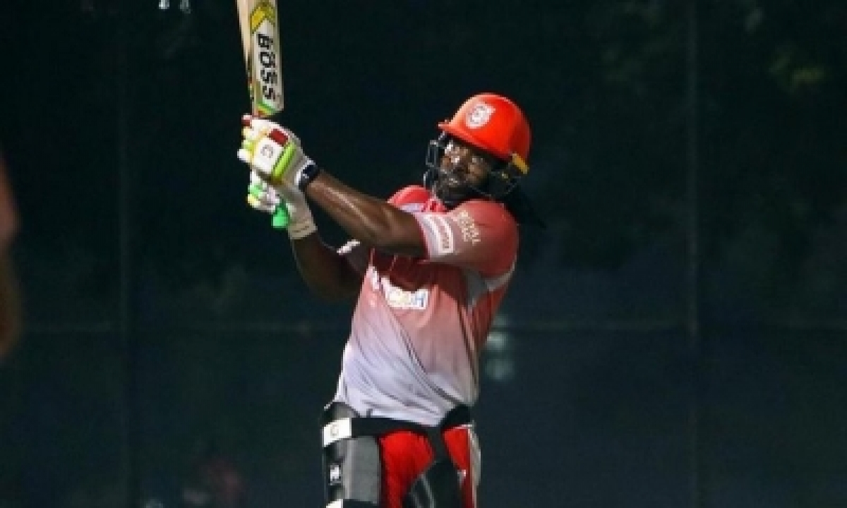 TeluguStop.com - Gayle's 99 Takes Kxip To 185/4 Vs Rr
