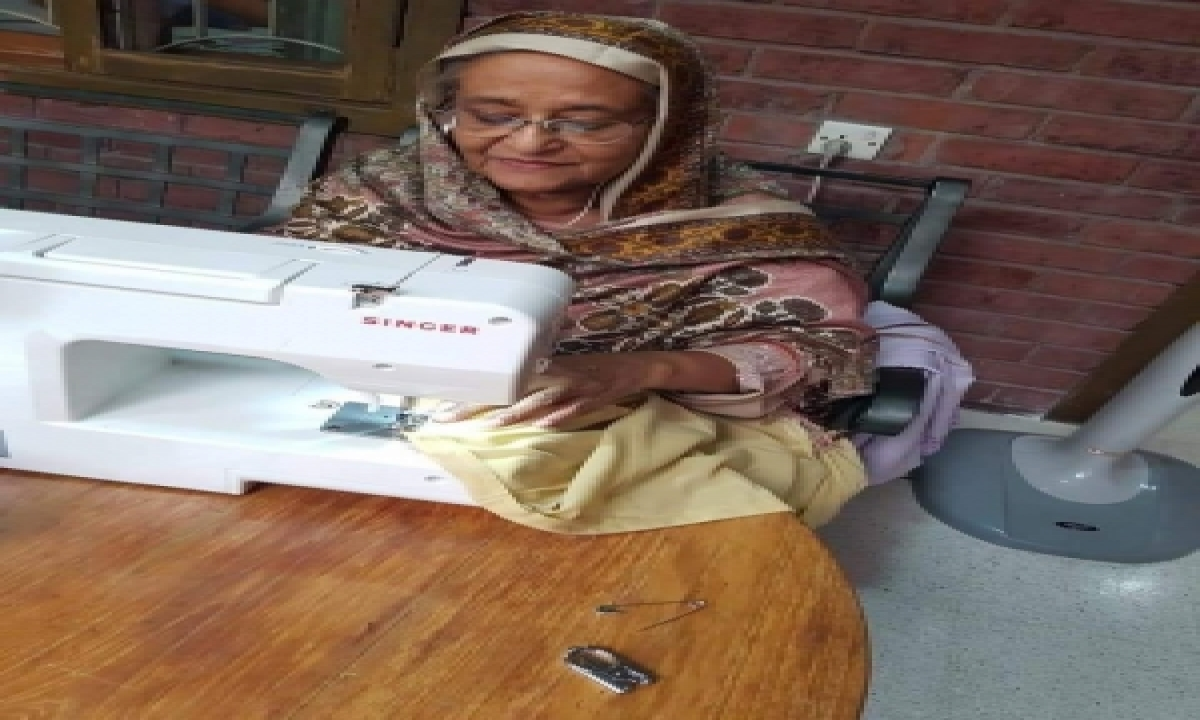 TeluguStop.com - Hasina's Photos Of Her Sewing, Fishing Go Viral