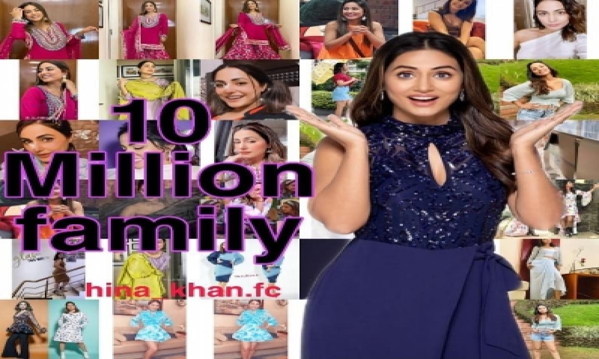 TeluguStop.com - Hina Khan's Instagram Family Grows To 10 Million