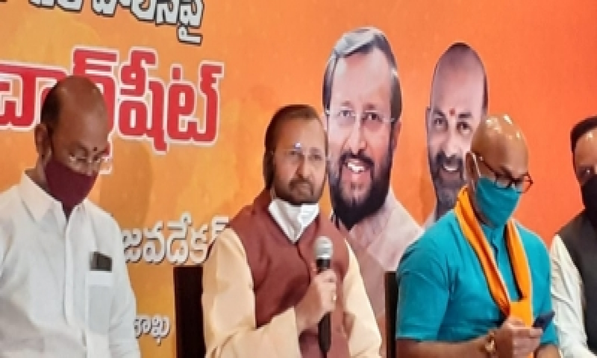 TeluguStop.com - Hyd Municipal Polls: Javadekar Gives Boost To Bjp Campaign