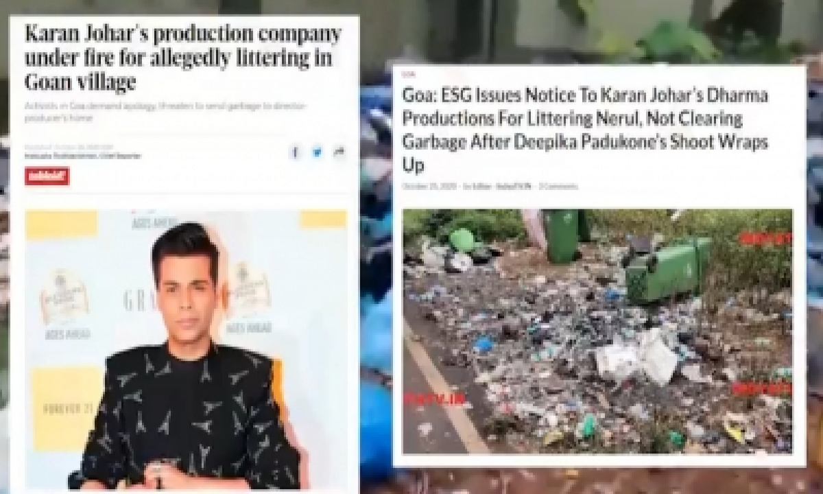 TeluguStop.com - Karan Johar Film Line Producer Alleges North Goa Lacks Waste Disposal Management