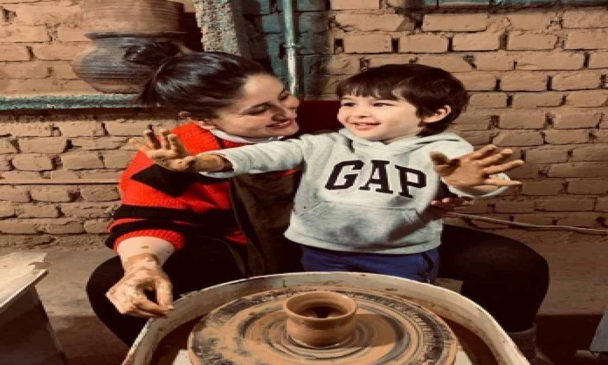 TeluguStop.com - Kareena And Taimur Try Pottery In Dharamkot