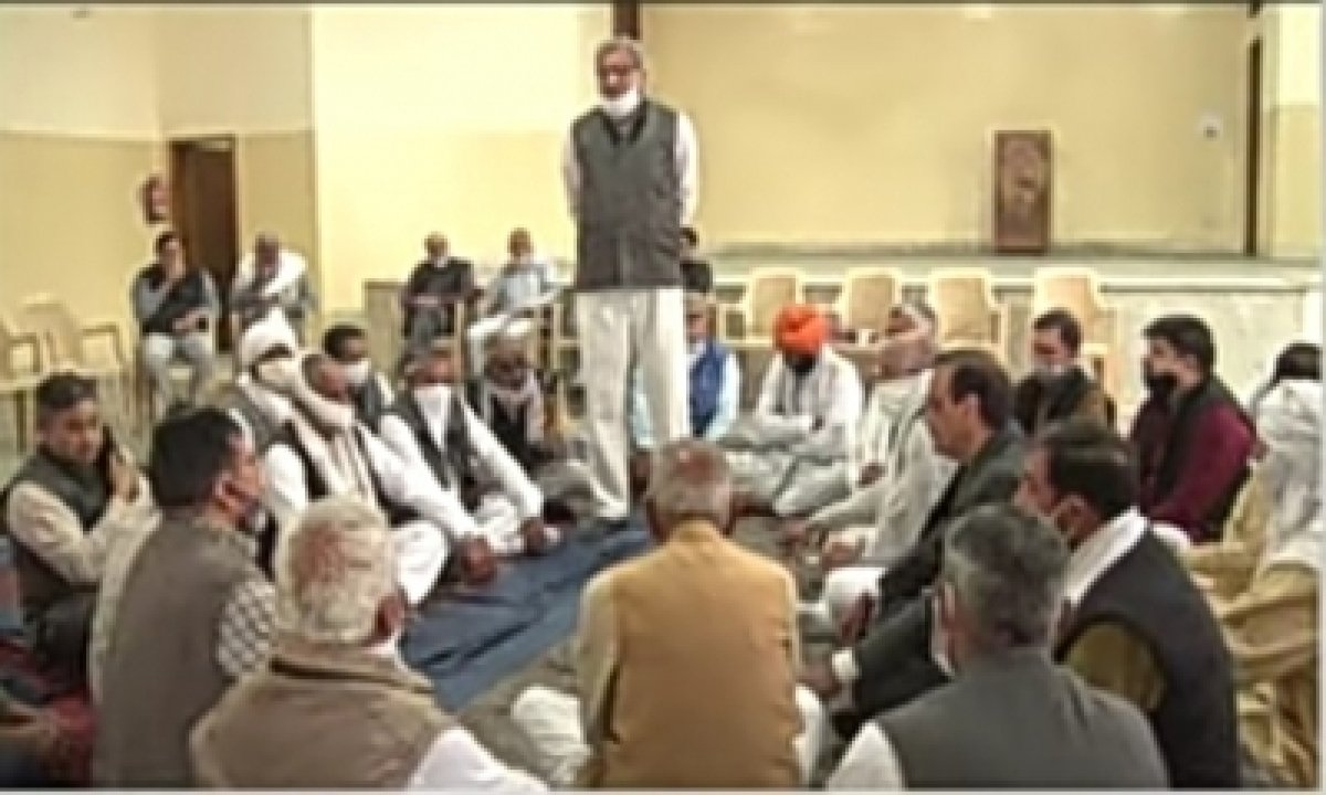 TeluguStop.com - Mahapanchayat Held In Gurugram Amid Farmers' Stir