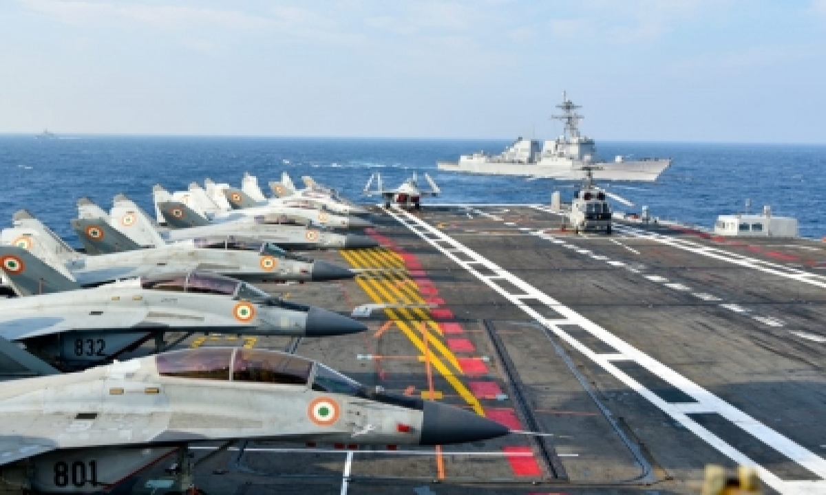 TeluguStop.com - Malabar Naval Exercise: Us, Indian Aircraft Show Coordinated Manoeuvres