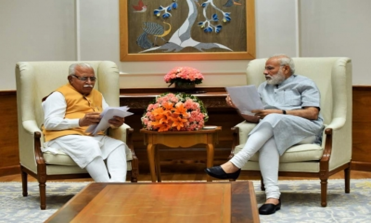 TeluguStop.com - 'manohar Ji…': When Pm Intervened Amid Haryana Cm's Address