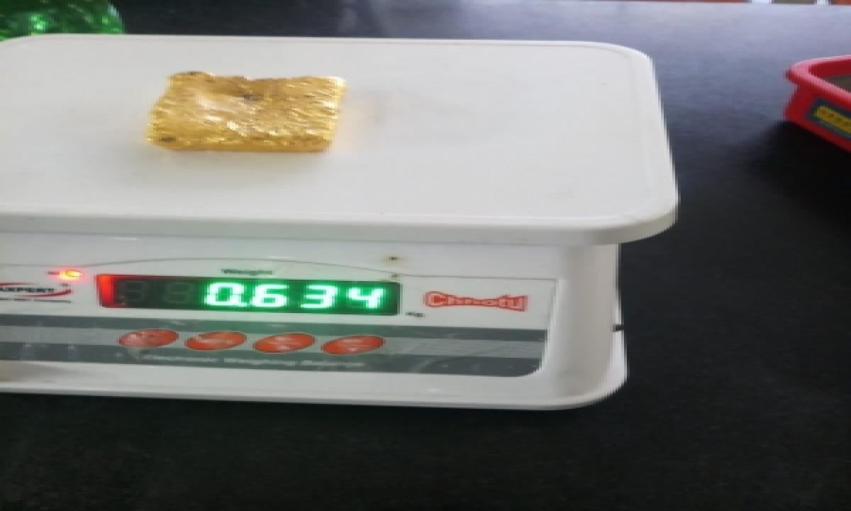 TeluguStop.com - M'luru Customs Seizes 634 Gm Gold, Arrests Passenger From Dubai