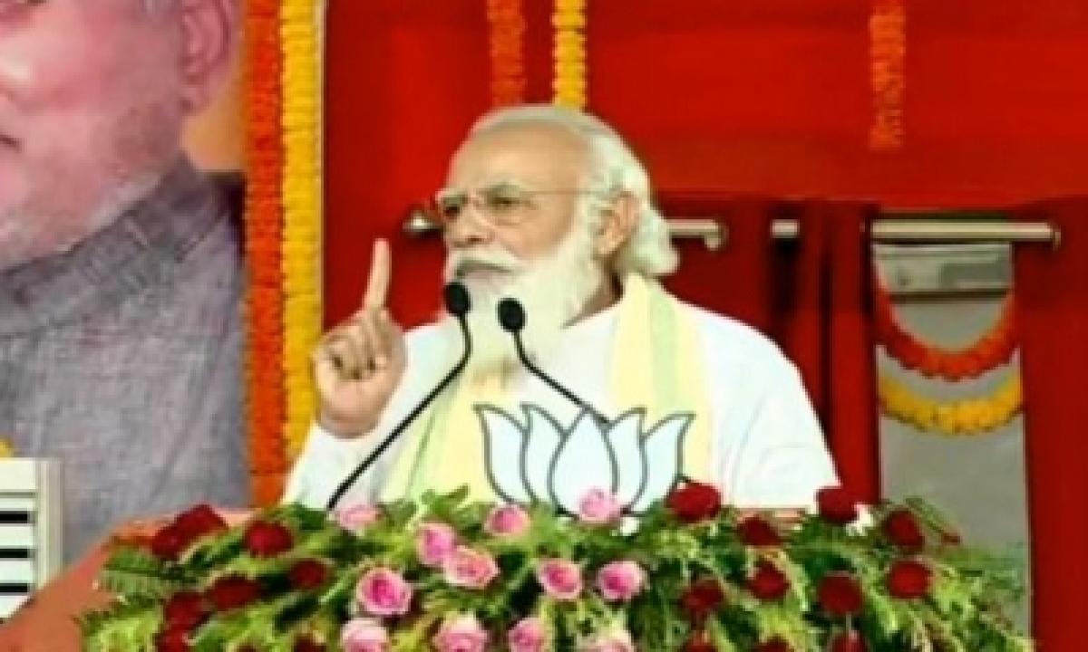 TeluguStop.com - Modi Compares 15-yr 'lawless Rule' With Nda's Development Era (ld)