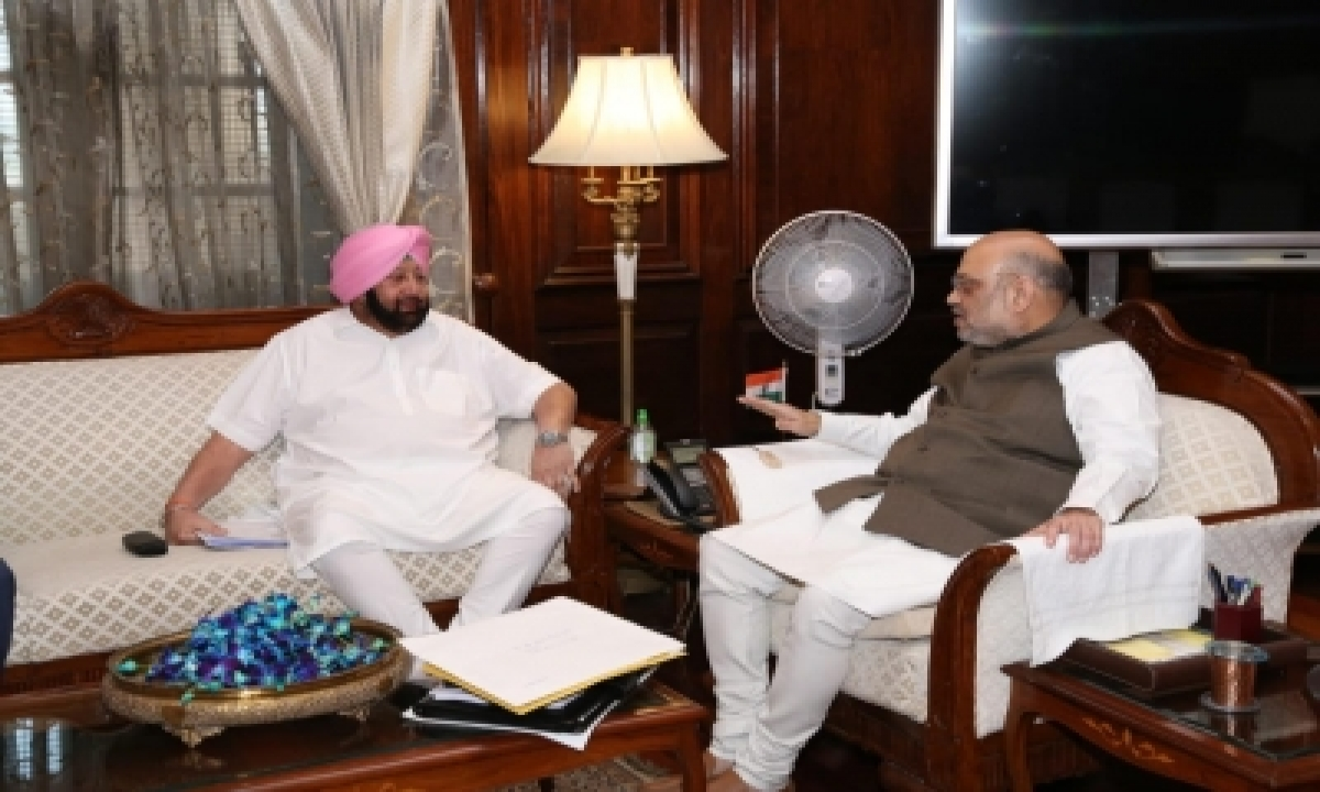 TeluguStop.com - Punjab Cm To Call On Shah On Thursday On Farmers' Issue