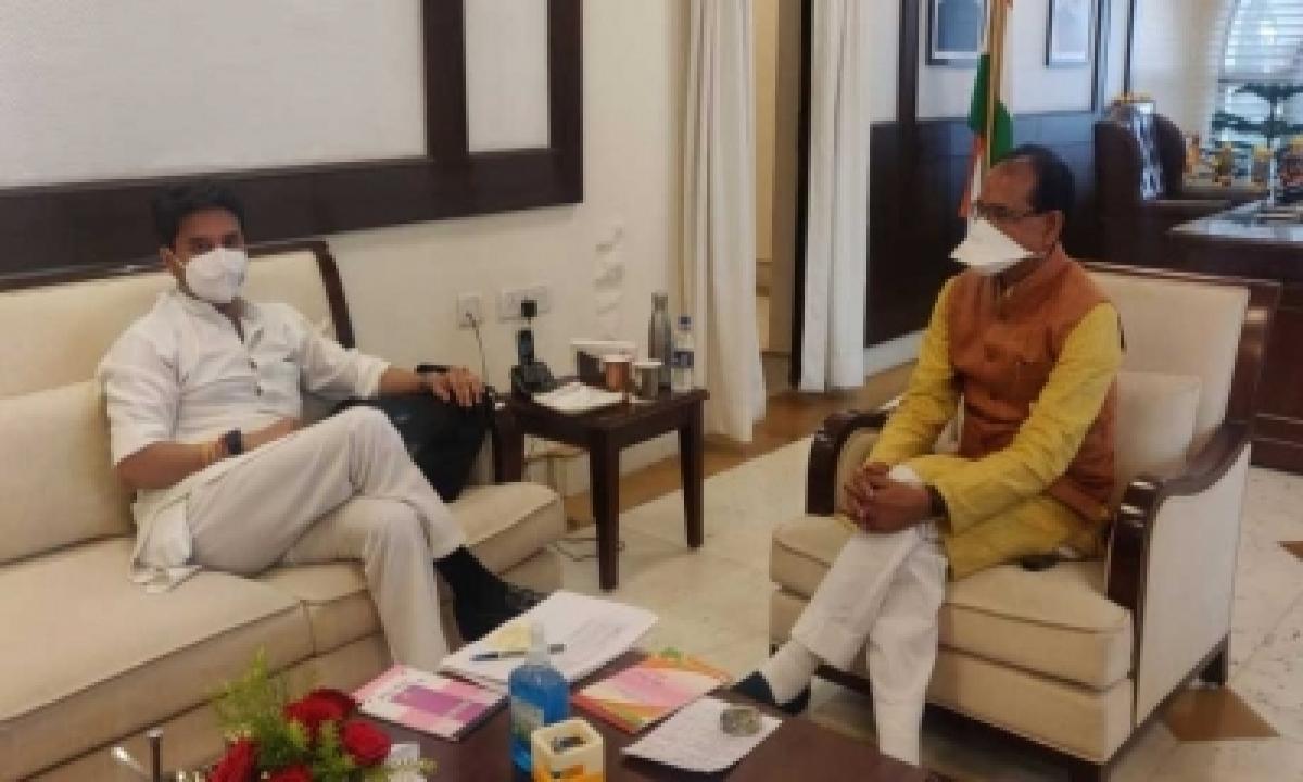 TeluguStop.com - Scindia Meets Shivraj, Sparks Speculation Over Cabinet Expansion