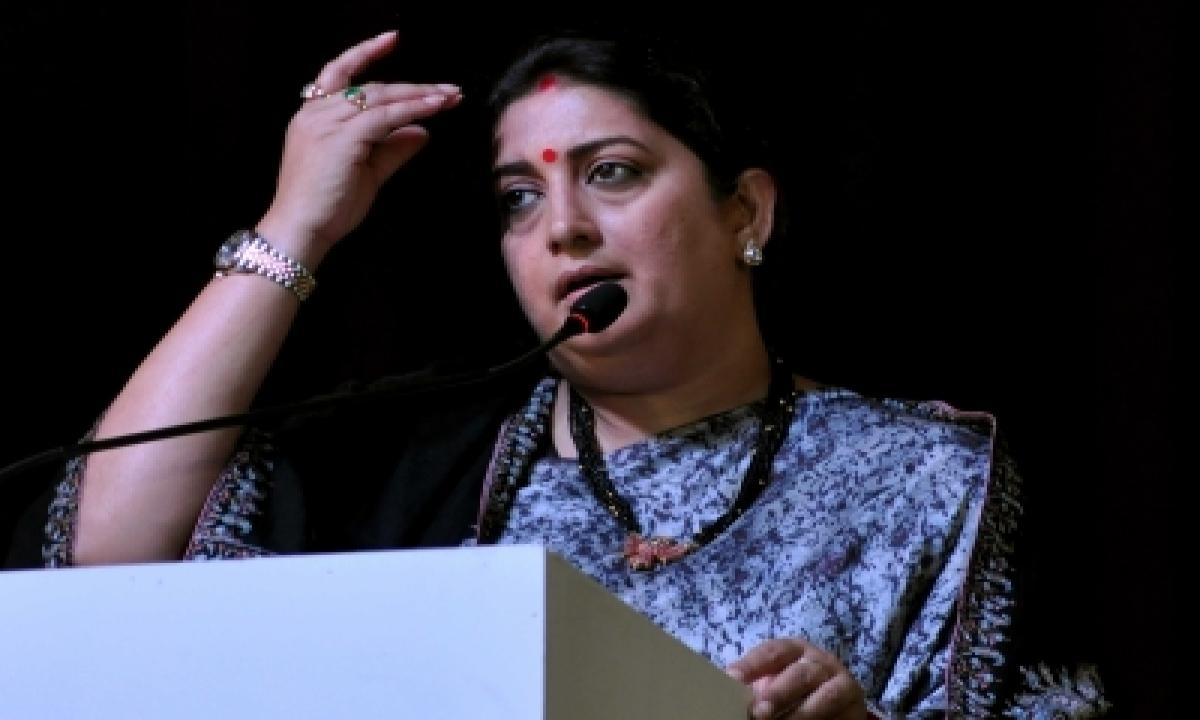 TeluguStop.com - Smriti Irani Launches Developmental Projects In Rae Bareli