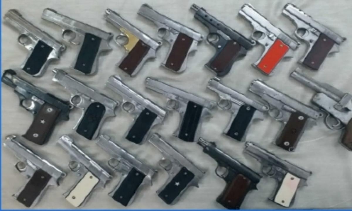 TeluguStop.com - Two Gun-runners Arrested In Delhi, 19 Pistols Seized
