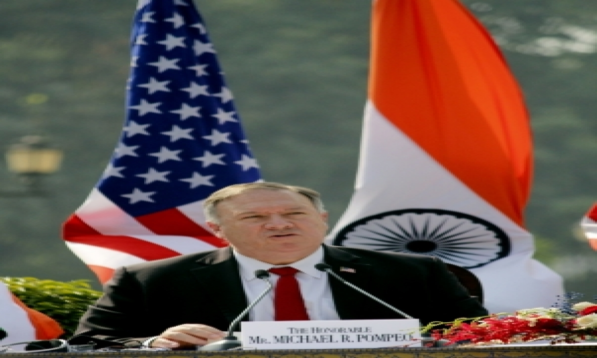 TeluguStop.com - Us Will Provide Any Support To India As 'deterrence' Against China: Pompeo