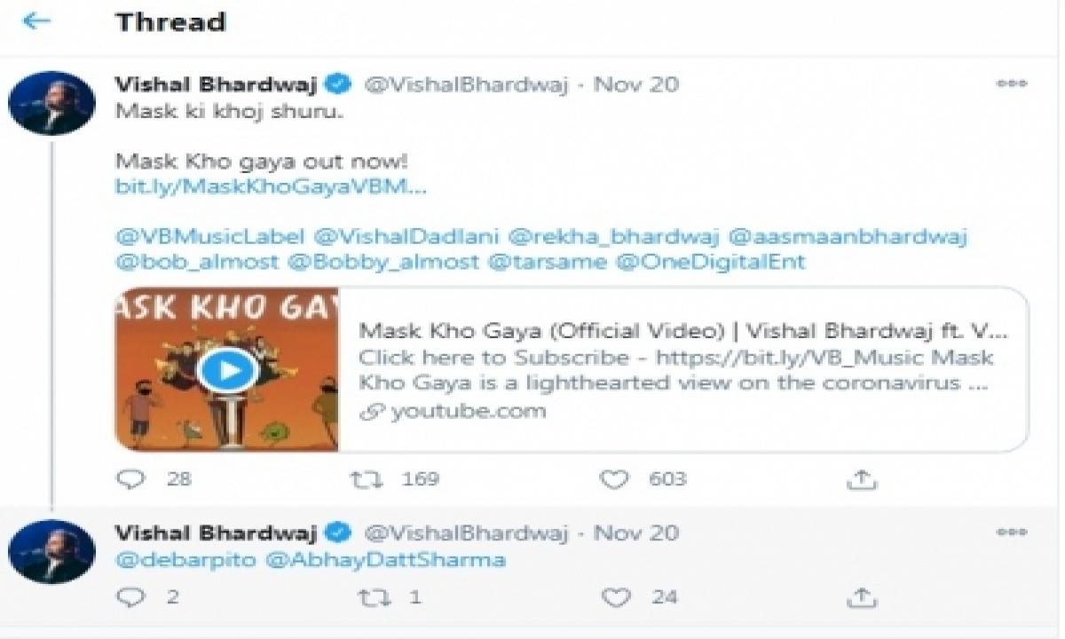 TeluguStop.com - Vishal Bhardwaj, Vishal Dadlani Collaborate On A 'relevant, Necessary' Song