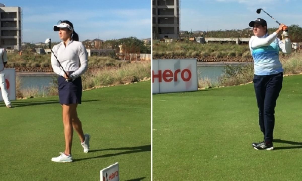 TeluguStop.com - Women's Pro Golf: Ridhima Shares Lead With Amandeep In 1st Leg