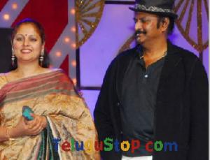 TeluguStop.com - Jayasudha Dancing With Rowdy For Rangeela Song-Latest News - Telugu-Telugu Tollywood Photo Image