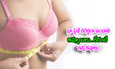 Why Women Should Only Wear Perfect Size Bra-Telugu Health - తెలుగు హెల్త్ టిప్స్ ,చిట్కాలు-Telugu Tollywood Photo Image