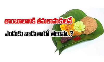 తాంబూలానికి తమలపాకులనే ఎందుకు వాడతారో తెలుసా-Devotional-Telugu Tollywood Photo Image