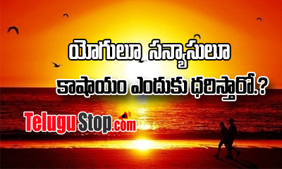 Why Do Yogi's And Munis Wear Saffron-Devotional-Telugu Tollywood Photo Image