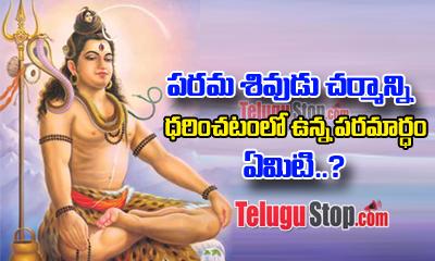 Secret Behind Lord Siva Seen Wearing Tiger Skin-Devotional-Telugu Tollywood Photo Image