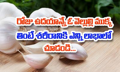 TeluguStop.com - Healthy Benefits Of Eating Garlic Every Morning-Telugu Health Tips-Telugu Tollywood Photo Image