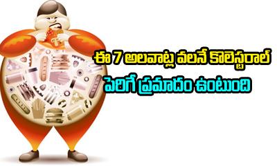 7 Habits That Raise Bad Cholesterol Levels-Telugu Health Tips-Telugu Tollywood Photo Image