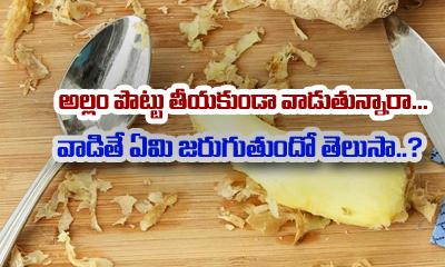Can You Eat Ginger Peel-Telugu Health - తెలుగు హెల్త్ టిప్స్ ,చిట్కాలు-Telugu Tollywood Photo Image