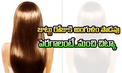 Super Fast Hair Growth-Telugu Health - తెలుగు హెల్త్ టిప్స్ ,చిట్కాలు-Telugu Tollywood Photo Image