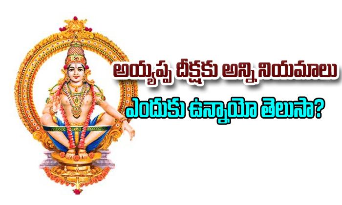 Ayyappa Swami Deeksha Rules- తెలుగు భక్తి కళ ఆద్యాధమిక ప్రసిద్ధ గోపురం పండగలు పూర్తి విశేషాలు -Ayyappa Swami Deeksha Rules-