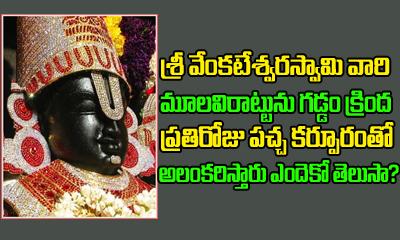 Why Camphor Is Placed On Lord Venkateswara Chin-Telugu Bhakthi-Telugu Tollywood Photo Image