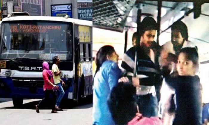 బస్సు లో సీటు కోసం కొట్టుకున్న ఇద్దరమ్మాయిలు.. ఆ అబ్బాయి ఇచ్చిన కౌంటర్ హైలైట్.-General-Telugu-Telugu Tollywood Photo Image