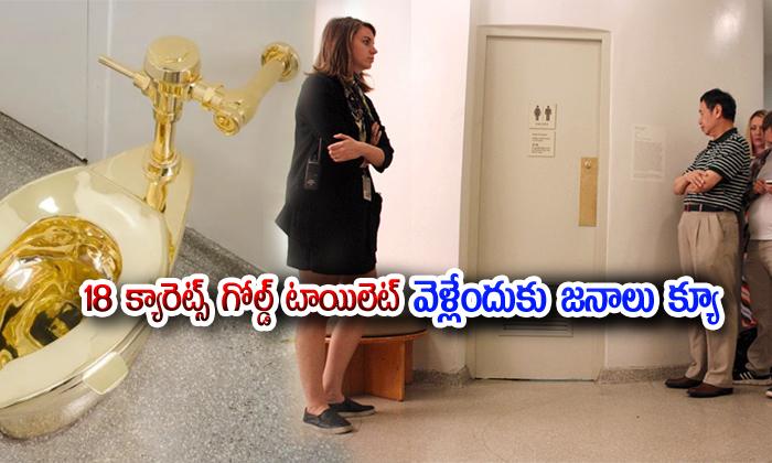 TeluguStop.com - The 18 Karat Gold Toilet Is Attracting