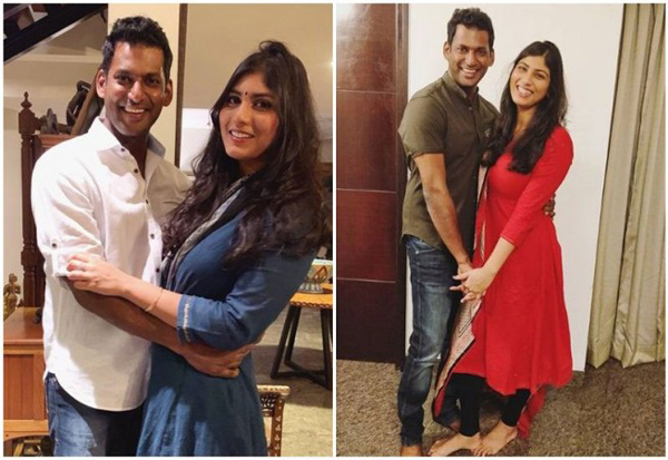 Hero Vishal Engagement In Hyderabad-