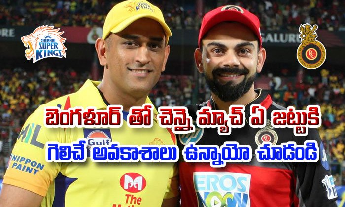 Chennai Super Kings Vs Royal Challengers Bangalore Match Prediction