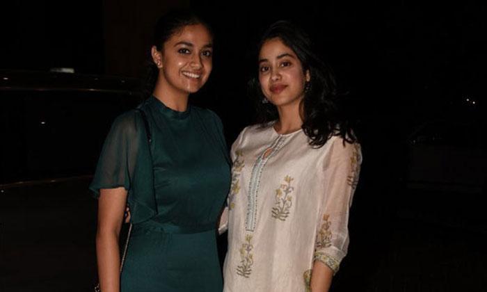 Keerthi Suresh And Jhanvi Kapoor In Mumbai