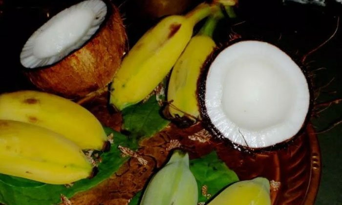 Coconut And Banana Ritual At Temple- Telugu Devotional Bhakthi(తెలుగు భక్తి ) Coconut And Banana Ritual At Temple--Coconut And Banana Ritual At Temple-