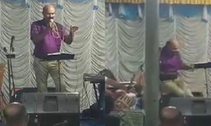 Kerala Cop Sings On Eve Of Daughter's Wedding, Collapses On Stage And Dies - Telugu Viral News Kerala Cop Sings On Eve Of Daughter's Wedding Collapses Stage And Dies -