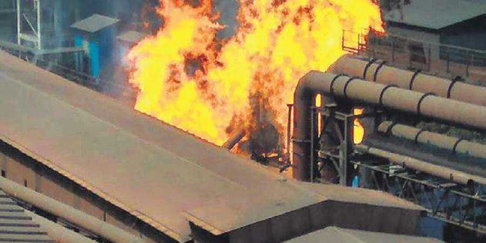 Major Fire Accident In Bhilai Steel Plant- Telugu Viral News Major Fire Accident In Bhilai Steel Plant--Major Fire Accident In Bhilai Steel Plant-