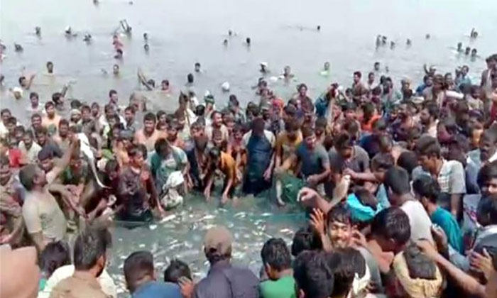 Villagers Looted Fishing Lake In Suryapet District