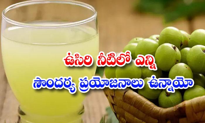 TeluguStop.com - Amla Water Skin Benefits