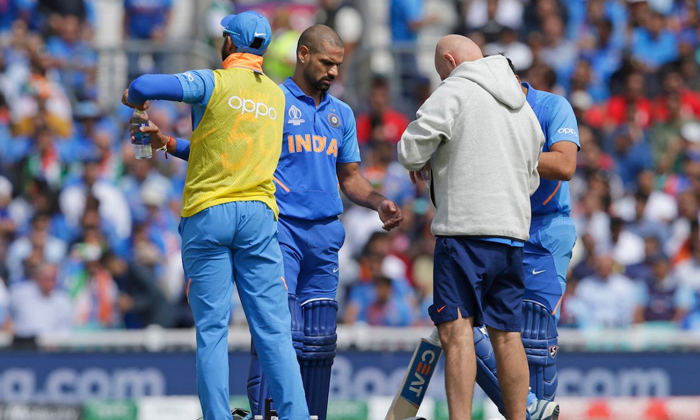 Dhawan Out From The World Cup