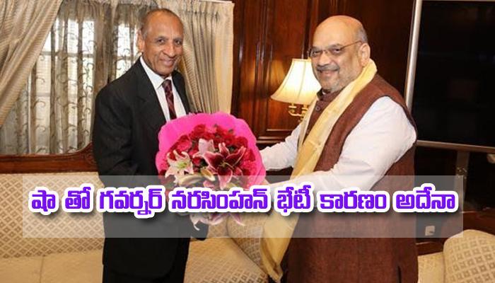 Governor Narasimhan Meets Amith Sha