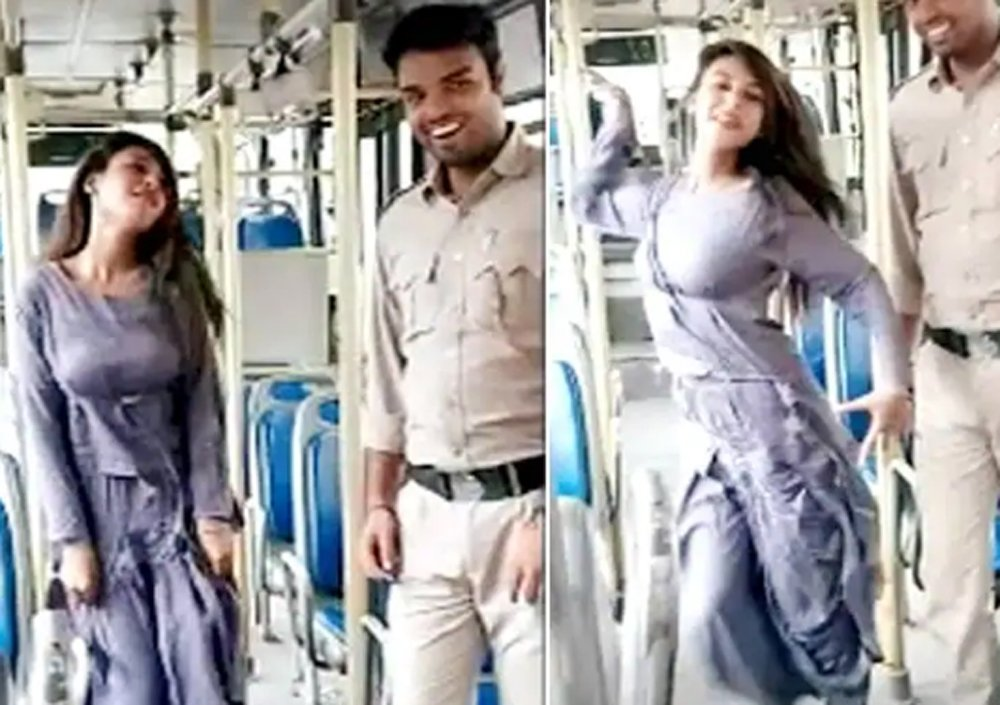 Dtc Bus Driver-conductor Suspended For Viral On Social Media - Telugu Viral News Dtc Bus Driver-conductor Suspended For Viral On Social Media -