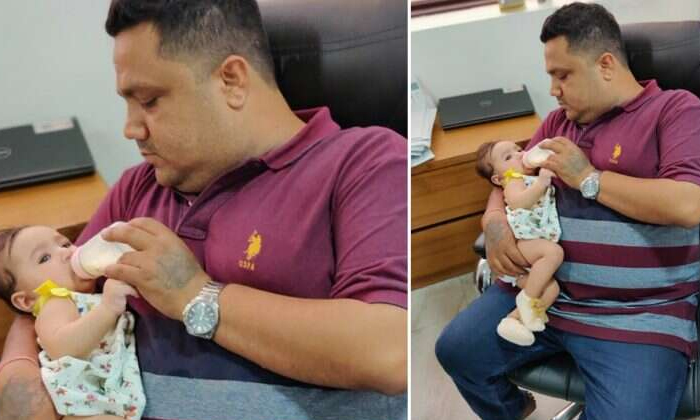 Heartwarming Photo Of A Father Feeding His Baby Daughter Goes Viral
