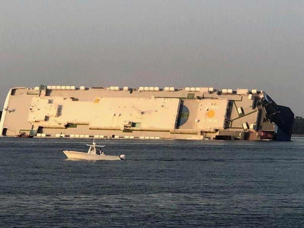 Telugu 4 Crew Members Are Missing, Cargo Ship, Cargo Ship Overturns Near Georgia, Georgia, Nri, Telugu Nri News Updates-